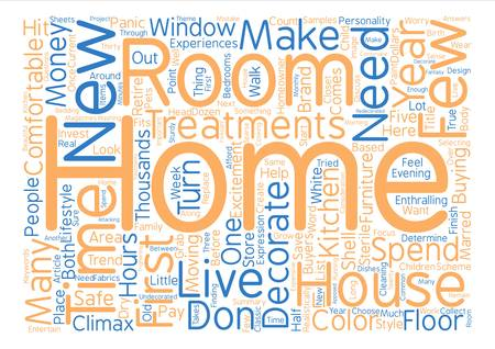 How To Decorate A new Home text background word cloud concept