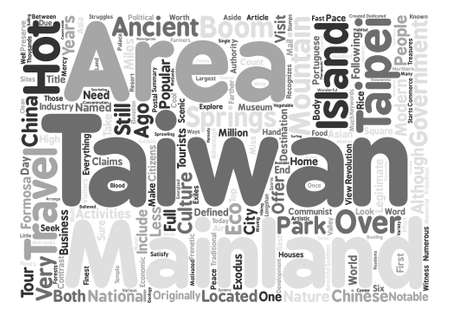 Travel Taiwan text background word cloud concept