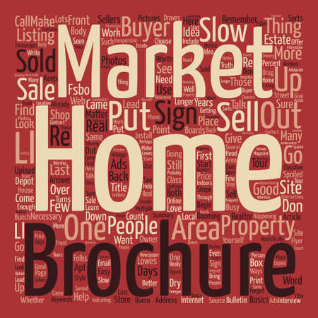 How to Sell Your Home in a Slow Market text background word cloud concept