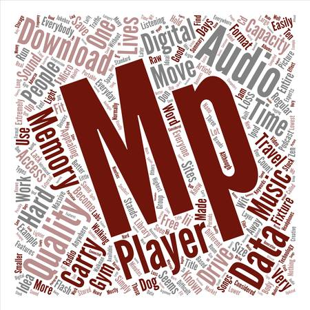 mp: MP Player If You Are On The Move text background word cloud concept