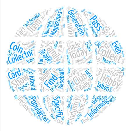 テキスト背景単語雲概念にはコレクター趣味業界の重要性