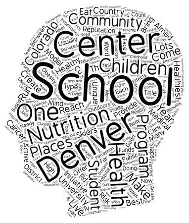Denver Schools Are A Model Of Good Health text background wordcloud concept Illustration