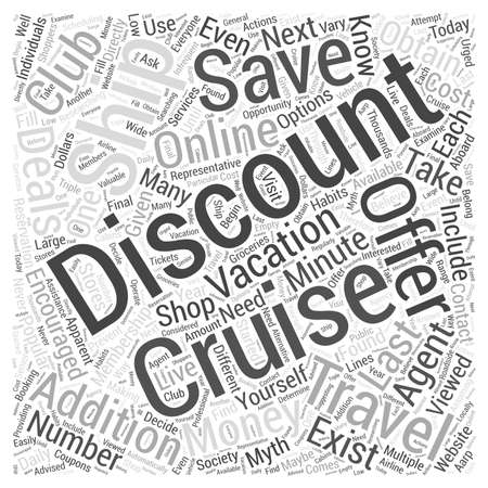 Discount Cruise Ship Vacations Do They Exist Word Cloud Concept