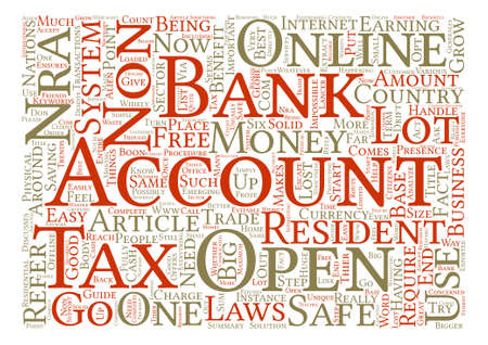 Why should a non US resident open a US bank account Word Cloud Concept Text Background