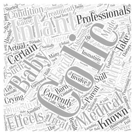 colic baby Word Cloud Concept Illustration
