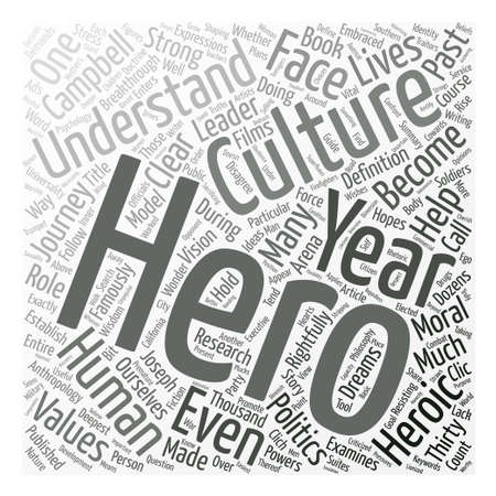 heros: Who Is The Hero In The Heros Journey Word Cloud Concept Text Background