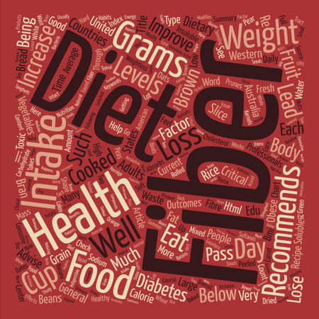 intake: Improve Your Health With Fiber text background word cloud concept