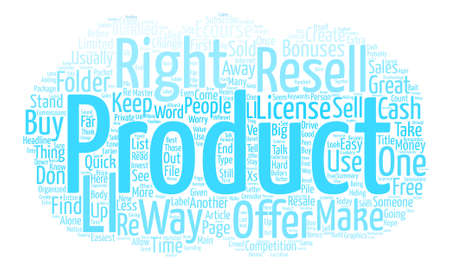 make money fast: How To Make Quick Cash With Resell Rights text background word cloud concept Illustration