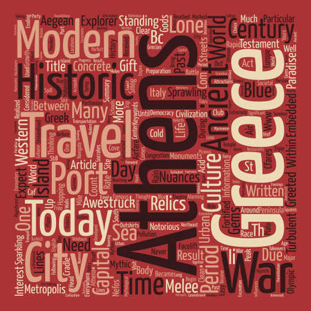 Travel To Athens A Gift From The Gods text background word cloud concept