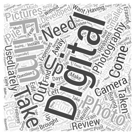 Digital photography review Word Cloud Concept