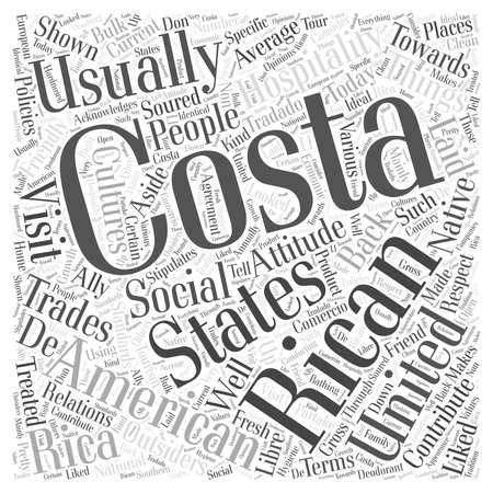 outsiders: Costa Ricans and their attitude towards outsiders Word Cloud Concept