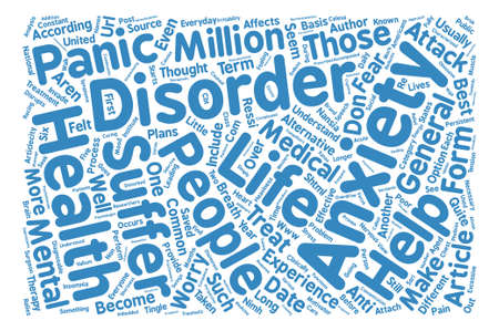 taken: Has Anxiety Taken Over Your Life text background word cloud concept