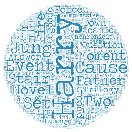 villainous: How Synchronicity And Jung Appear In The Creative Process text background wordcloud concept Illustration