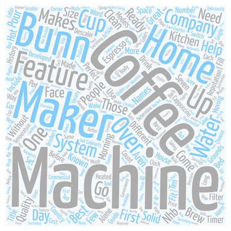 Guide To Bunn Coffee Makers text background wordcloud concept Vektorové ilustrace