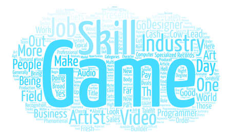 Job Opportunities text background word cloud concept Illustration