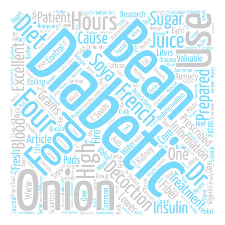 Prescribed foods for diabetic patients text background word cloud concept