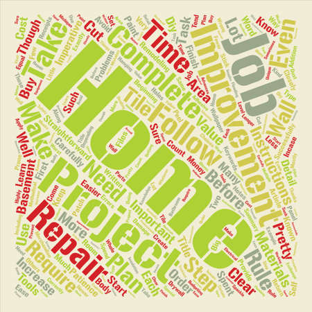 Home Improvement Rules to Follow text background word cloud concept