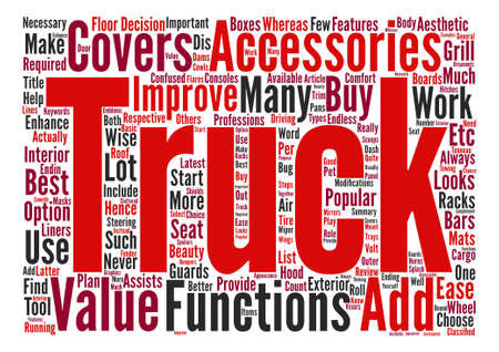 enhances: Popular Accessories For Trucks Word Cloud Concept Text Background