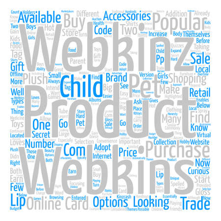 How to Buy Webkins Products Word Cloud Concept Text Background