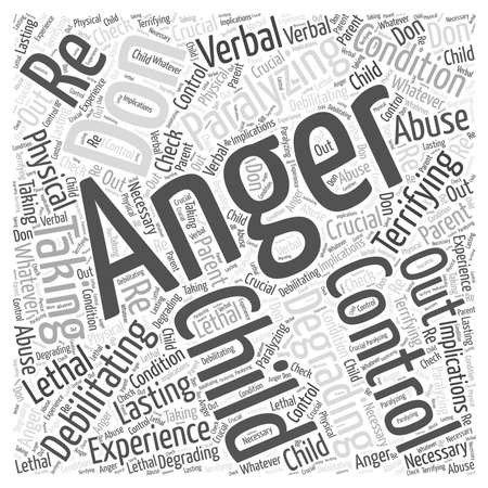 Control Your Anger Dont let it Control You Word Cloud Concept Illustration