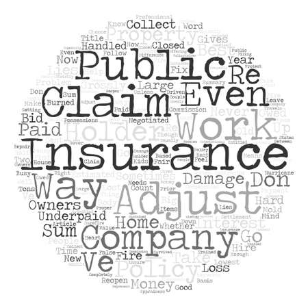 underpaid: Underpaid Property Insurance Claims There Is Help text background word cloud concept
