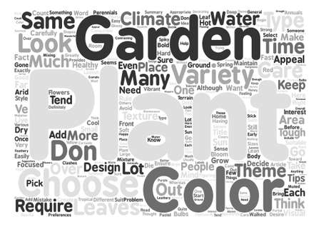 Variety In Garden Plants How Much Is Too Much text background word cloud concept