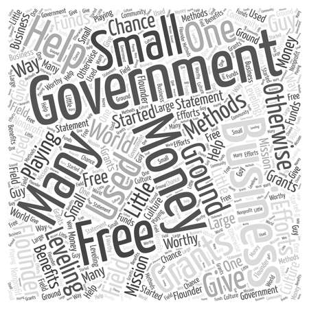 leveling: Free Money from the Government Word Cloud Concept