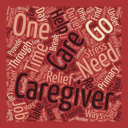 主な介護者の単語クラウド コンセプト テキストの背景として存続する方法