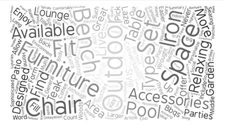 Outdoor Furniture text background word cloud concept