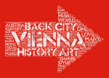 摘要: Vienna City Of The Arts Word Cloud Concept Text Background