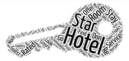 What To Look For In A Hotel text background word cloud concept