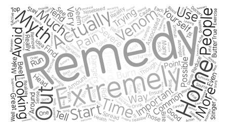 Home Remedy Myths Debunked Word Cloud Concept Text Background