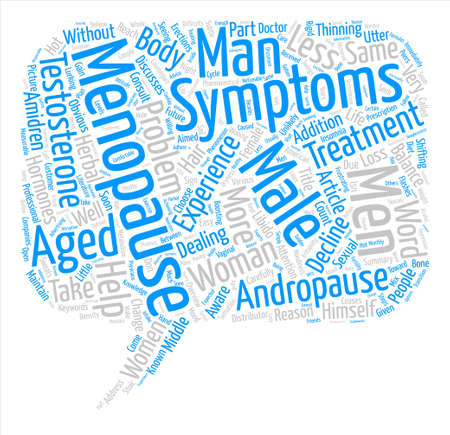 andropause: OVERVIEW OF MALE MENOPAUSE Word Cloud Concept Text Background