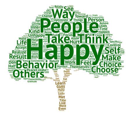 Geluk neemt werk keuzes om geluk tekst achtergrond word cloud concept te maken