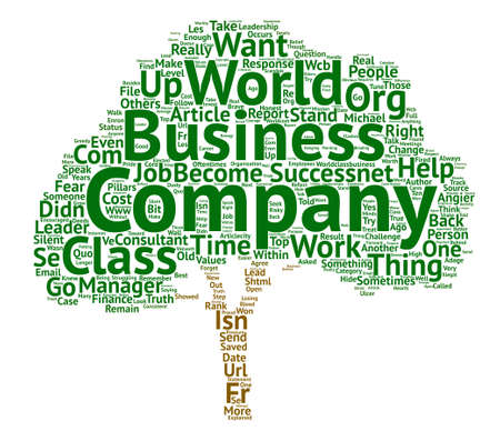 How to Help Your Company Become a World Class Company text background word cloud concept