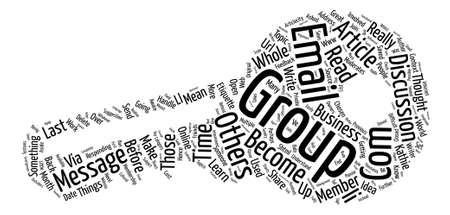 Email Etiquette II text background word cloud concept Illustration