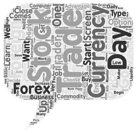 foreign bodies: From Beginner To Forex Trader text background wordcloud concept Illustration