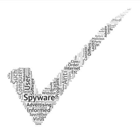 Spyware And Spycheckers Word Cloud Concept Text Background Illustration