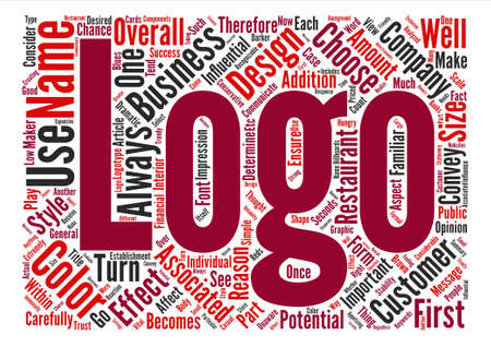 The Importance of a Well Designed Logo text background word cloud concept