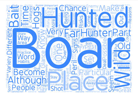 fanatics: How can I become a wild boar hunter text background word cloud concept