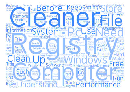 unused: Why Do You Need A Registry Cleaner Word Cloud Concept Text Background