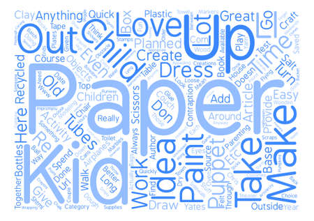 Top Quick and Easy Kid Activities For Those Long Weekends text background word cloud concept
