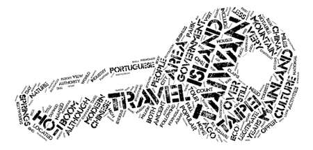 formosa: Travel Taiwan Word Cloud Concept Text Background
