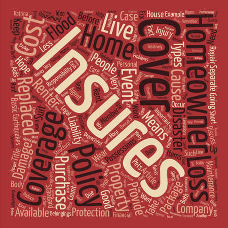 homeowners: Homeowners Insurance Word Cloud Concept Text Background