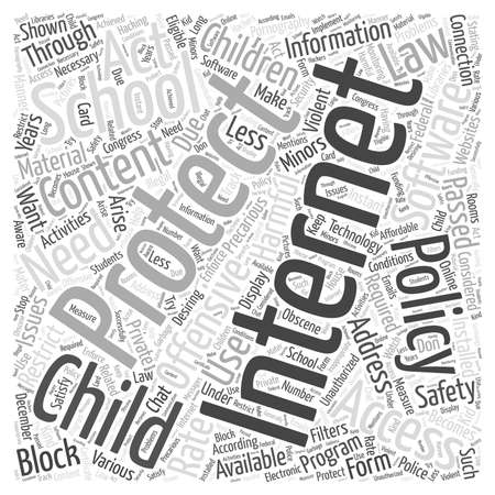 offensive: child internet protection Word Cloud Concept