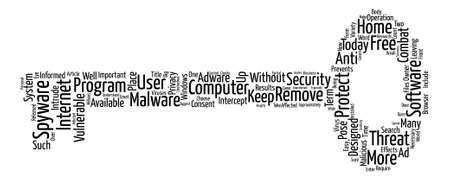 Spyware Remover Protect Your Computer from Spyware Word Cloud Concept Text Background