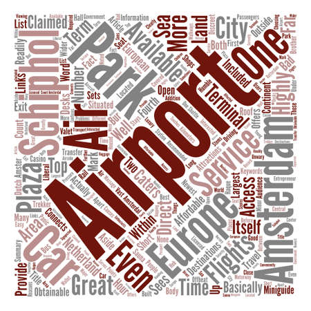 fortunately: travel airport Word Cloud Concept Text Background
