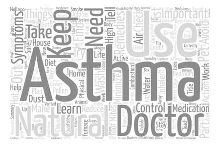 How to Live With Your Asthma text background word cloud concept