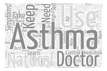Comment vivre avec votre concept de nuage de mots fond asthme texte