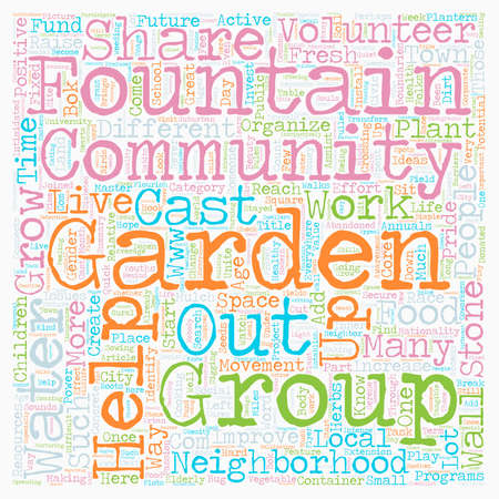 Community Gardens Can Change Lives text background wordcloud concept